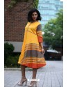 Mustard Designer Cotton Readymade Kurti