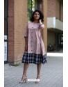Baby Pink Designer Cotton Readymade Kurti