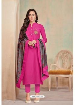 Rani Designer Party Wear Heavy Jam Cotton Salwar Suit