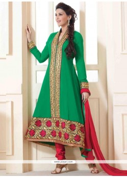 Sonali Bendre Green Anarkali Suit