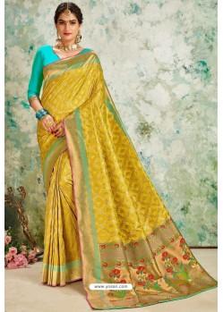 Corn Designer Classic Wear Upada Silk Sari
