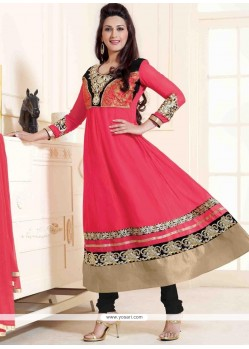 Sonali Bendre Hot Pink Anarkali Salwar Suit