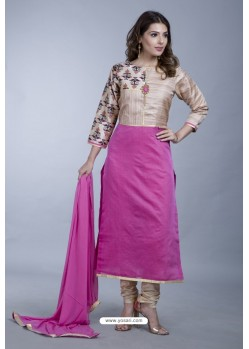 Rani Embroidered Designer Readymade Party Wear Churidar Salwar Suit