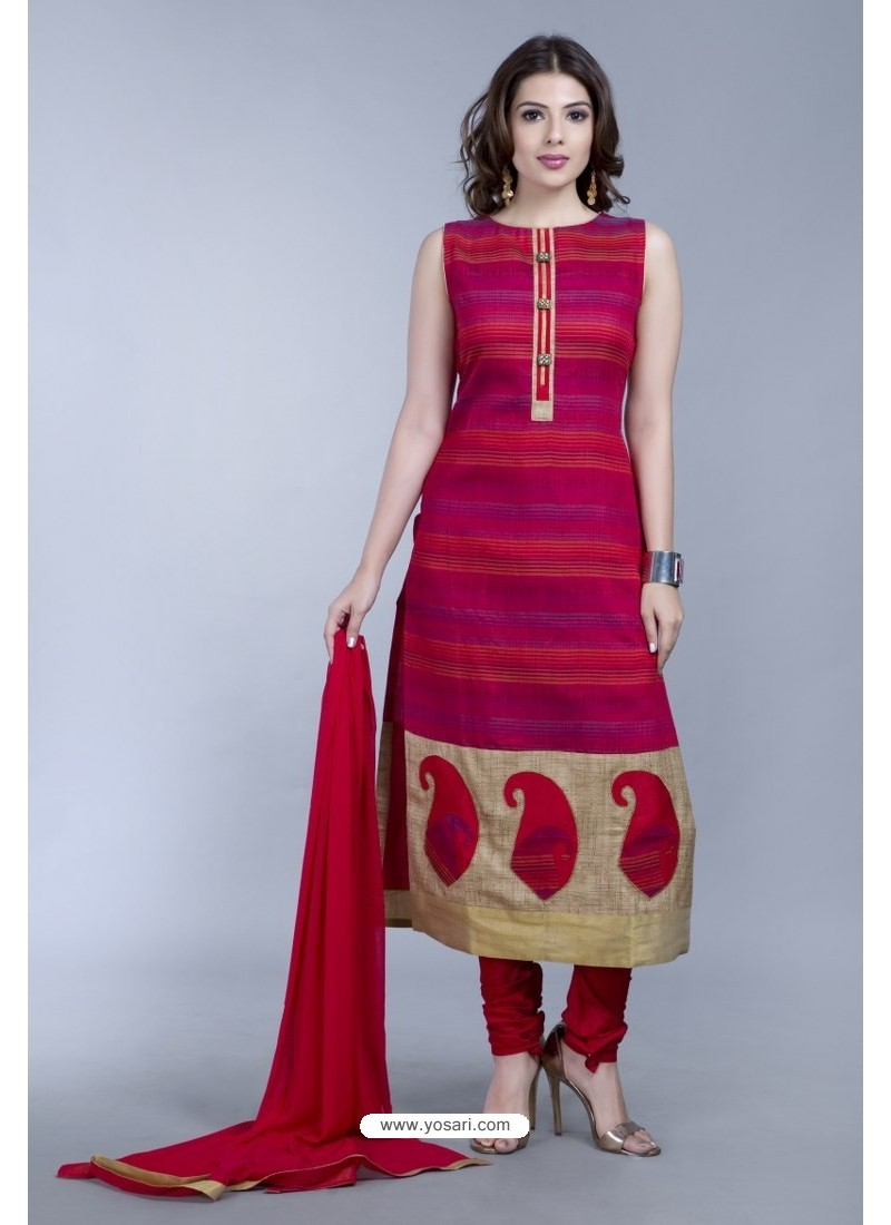 Multi Colour Embroidered Designer Readymade Party Wear Churidar Salwar Suit