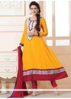 Sonali Bendre Yellow Anarkali Suit