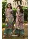 Multi Colour Designer Party Wear Crepe Palazzo Salwar Suit