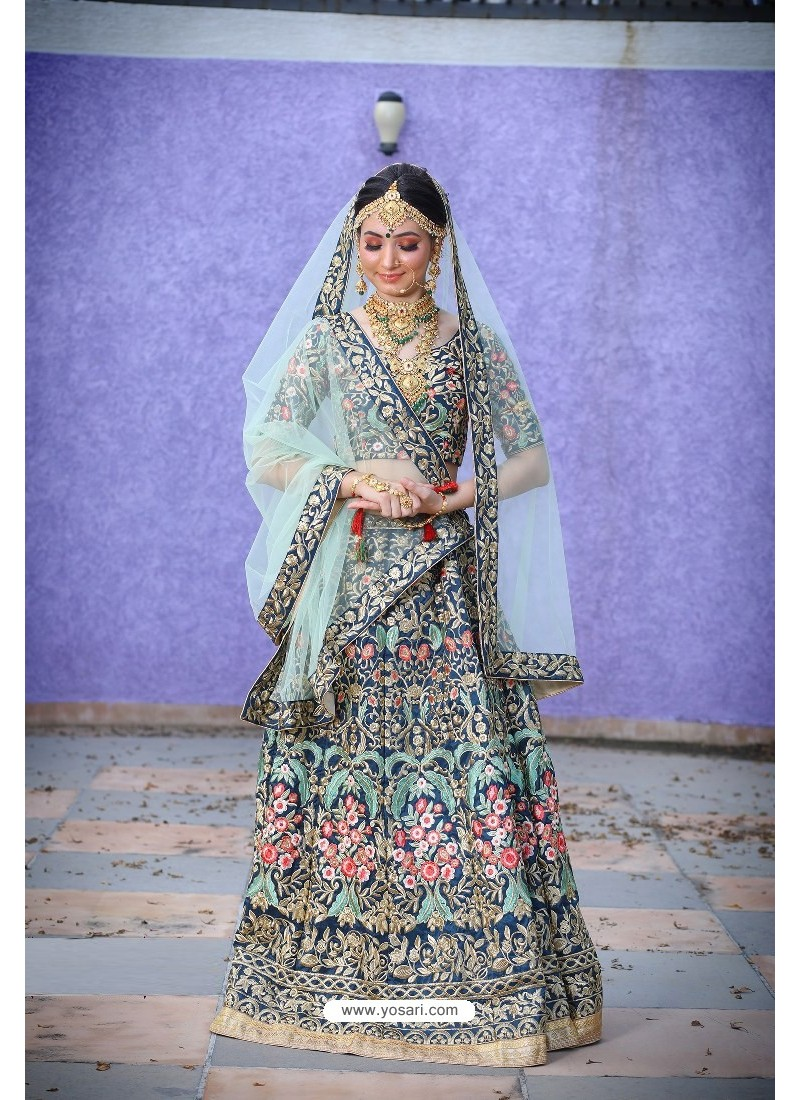 Multi Colour Heavy Embroidered Designer Party Wear Lehenga Choli