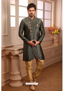 Carbon Readymade Semi Indowestern Pajama For Men