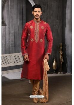 Maroon Readymade Designer Pajama For Men