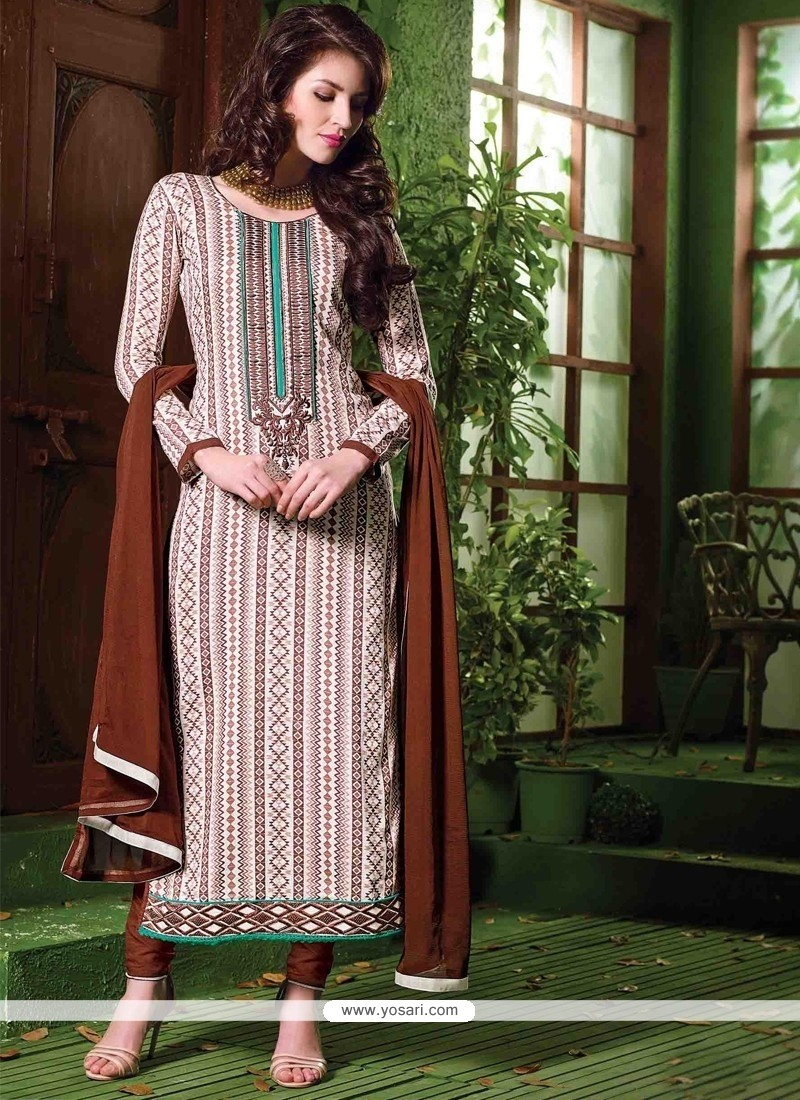 Fashionable White Designer Salwar Suit