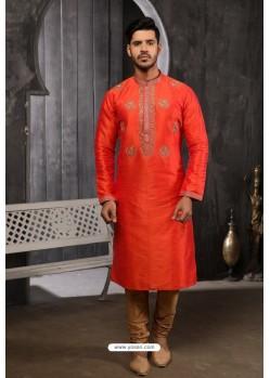 Orange Readymade Designer Pajama For Men