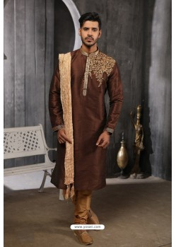 Coffee Readymade Designer Pajama For Men