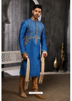 Blue Readymade Designer Pajama For Men