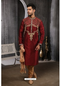 Maroon Readymade Designer Pajama For Men