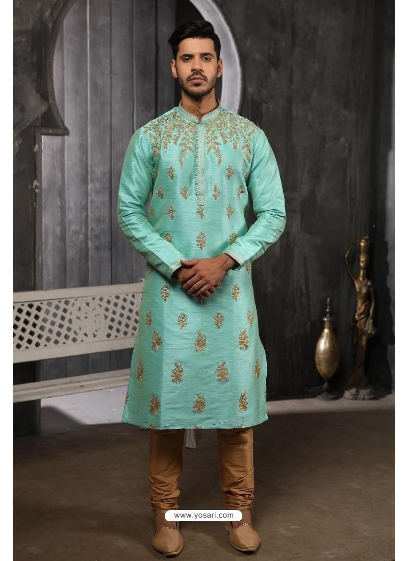 Sky Blue Readymade Designer Pajama For Men