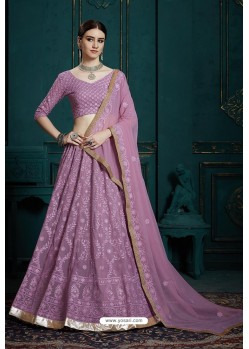 Lavender Heavy Multi Embroidered Designer Designer Lehenga Choli
