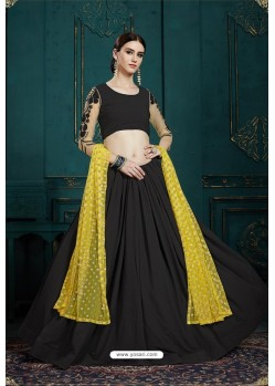 Carbon Heavy Multi Embroidered Designer Designer Lehenga Choli