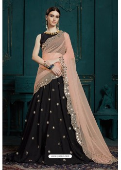 Black Heavy Multi Embroidered Designer Designer Lehenga Choli