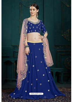 Royal Blue Heavy Multi Embroidered Designer Designer Lehenga Choli