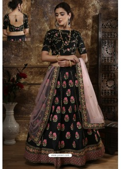 Black Exclusive Party Wear Designer Lehenga Choli