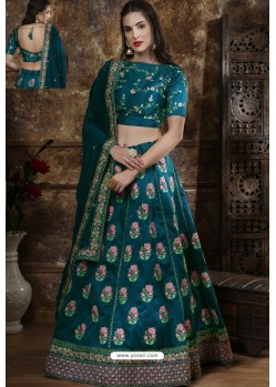 Teal Exclusive Party Wear Designer Lehenga Choli