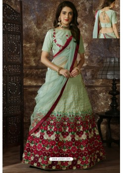 Olive Green Exclusive Party Wear Designer Lehenga Choli