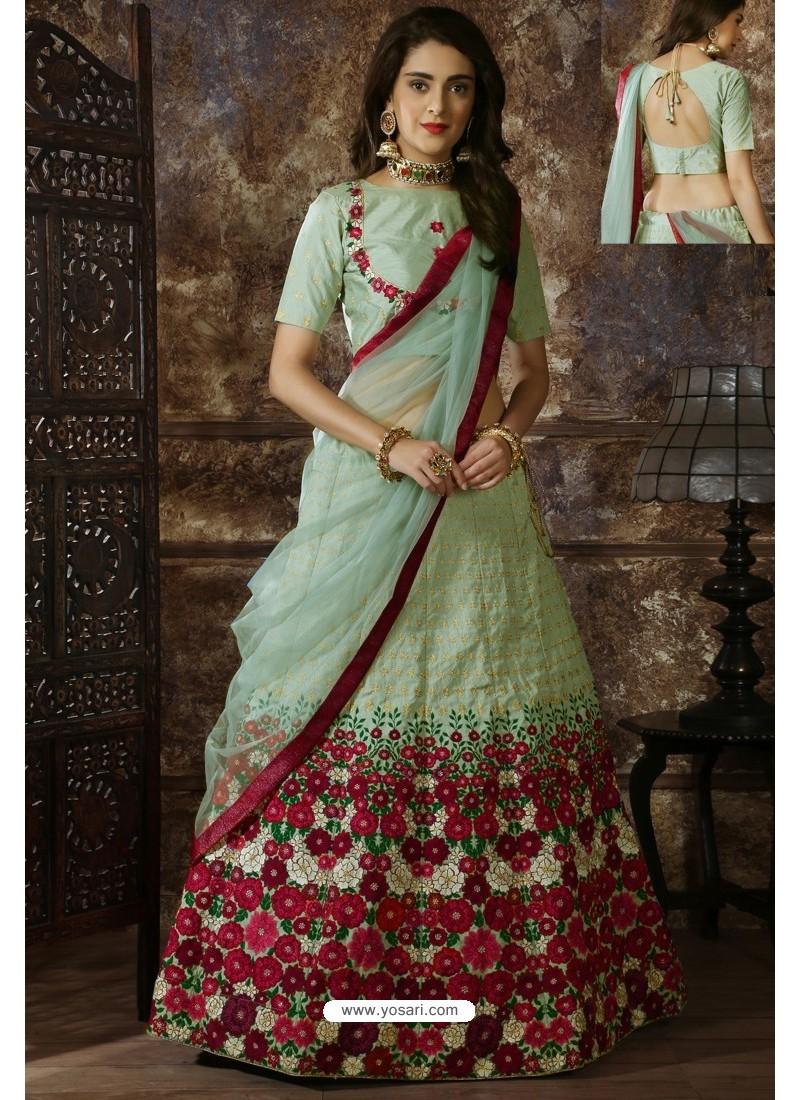 Olive Green Exclusive Party Wear Designer Lehenga Choli