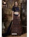 Navy Blue Exclusive Party Wear Designer Lehenga Choli