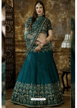 Teal Blue Exclusive Party Wear Designer Lehenga Choli