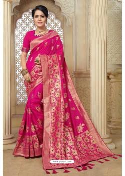Rani Designer Banarasi Silk Weaving Party WearᅠSari