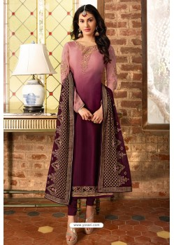 Deep Wine Heavy Designer Party Wear Churidar Salwar Suit