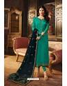 Aqua Mint Heavy Designer Party Wear Churidar Salwar Suit