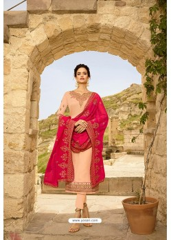 Light Beige Heavy Designer Party Wear Straight Salwar Suit