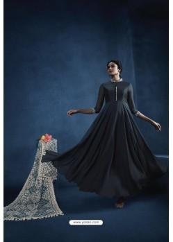 Carbon Heavy Embroidered Georgette Designer Anarkali Suit