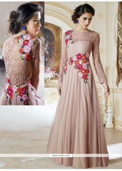 Light Pink Shaded Jacquard Gown