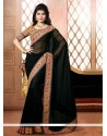 Black Semi Georgette Designer Saree