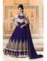 Royal Blue Pure Faux Georgette Designer Anarkali Suits