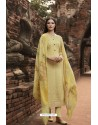 Yellow Pure Georgette Lucknowi Embroidered Straight Suit