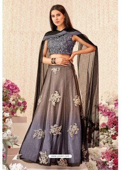 Pigeon Net Shimmer Lycra Party Wear Designer Lehenga Choli
