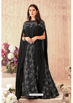 Black Fancy Lycra Party Wear Designer Lehenga Choli