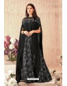 Black Fancy Lycra Party Wear Designer Lehenga Choli