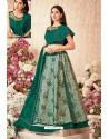Dark Green Jacquard Silk Net Party Wear Designer Lehenga Choli