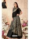Black And Gold Taffeta Silk Party Wear Designer Lehenga Choli