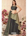 Mehendi Fancy Velvet Party Wear Designer Lehenga Choli