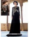 Splendid Black Net Designer Gown