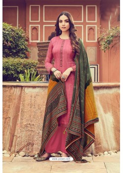 Old Rose Pure Jam Silk Palazzo Suit