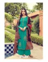 Aqua Mint Pure Jam Silk Palazzo Suit