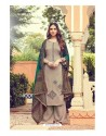 Light Brown Pure Jam Silk Palazzo Suit