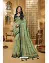 Sea Green Designer Silk Party Wear Saree