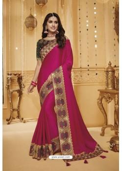 Rani Designer Silk Party Wear Saree